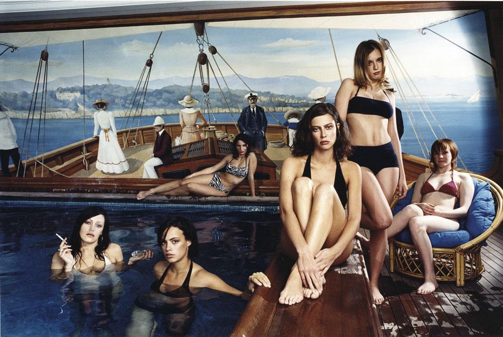 Les jeunes espoirs du cinéma français, piscine de l'hôtel Bristol