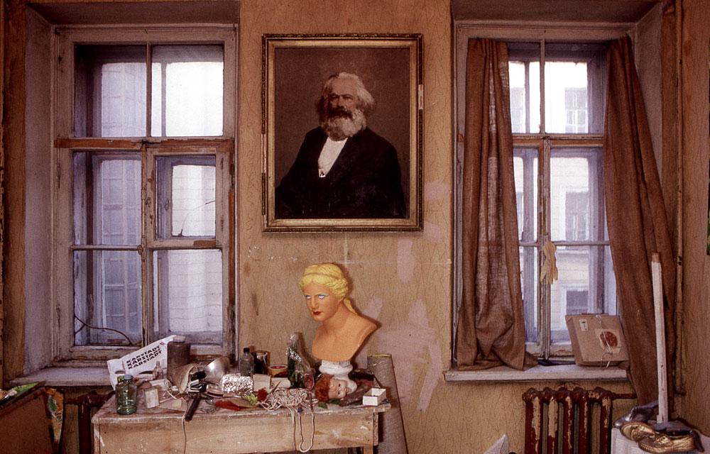 Intérieur de peintre à Moscou
