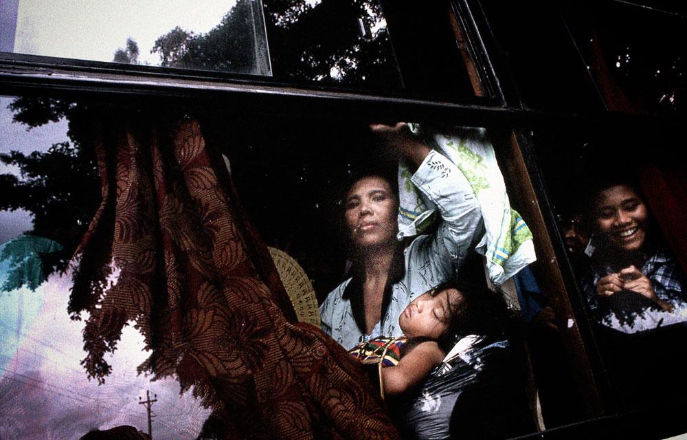 Java (Indonésie), dans un bus