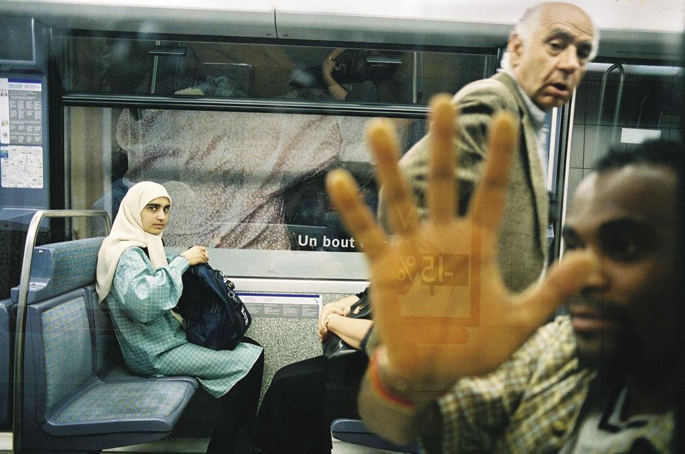Dans le métro, on se cache à 15%.