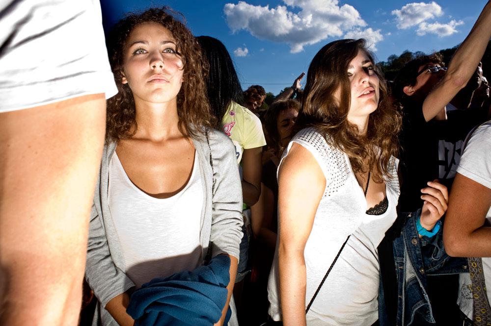 Lors d'un concert, au festival Rock en Seine, quand « Massive Attack »