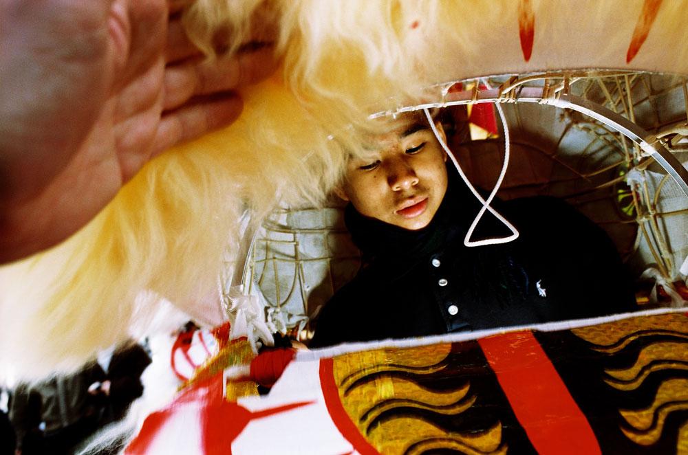 Le nouvel an chinois sous un dragon